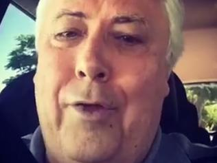 Clive Palmer waxes lyrical on burgers