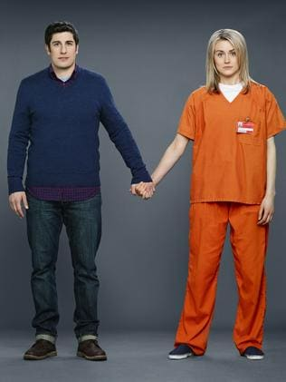 Jason Biggs and Taylor Schilling in Orange is the New Black.