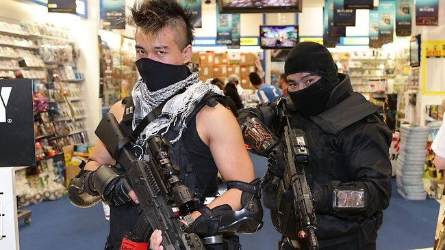 Fans of Call of Duty: Black Ops II have queued at EB Games at Wetherill Park. Picture: Bill Hearne