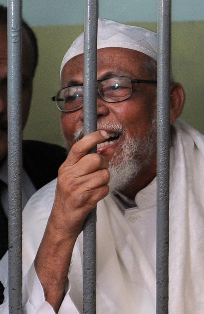Pledging allegiance to the Islamic State ... Radical Indonesian cleric Abu Bakar Bashir who is still in jail for funding terrorism. Picture: AFP