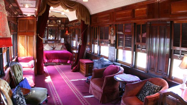 All aboard for this holiday home for train enthusiasts. Picture: Stayz.