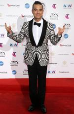 Robbie Williams arrives on the red carpet for the 30th Annual ARIA Awards 2016 at The Star on November 23, 2016 in Sydney, Australia. Picture: Jonathan Ng