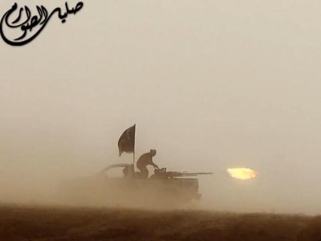 An image grab taken from an ISIS propaganda video. Picture: AFP