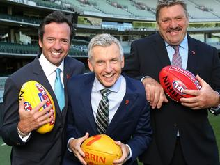 BT, Bruce and Hamish, - Channel 7 commentary team