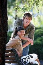 <p>Actors Sharni Vinson and Chris Hemsworth from TV show 'Home and Away' at Channel 7's Epping studios in Sydney.</p>