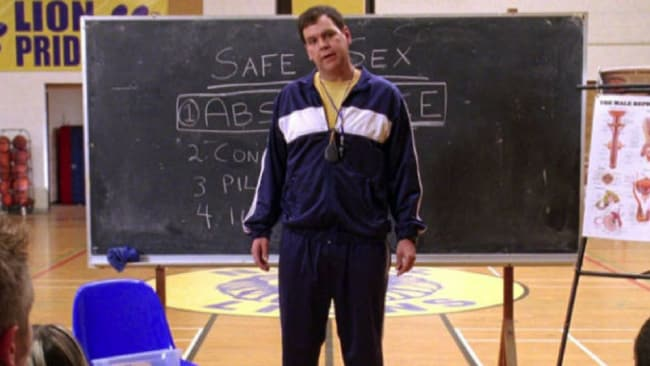 """""""Don't have sex. Because you will get pregnant. And die""""...orrrrr not? Photo: Mean girls"""