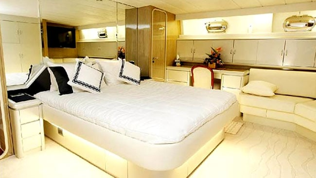 The Auspro yacht was recently refurbished for almost $3 million. Picture: Supplied/Gold Coast Bulletin