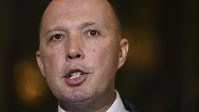 Home Affairs Minister Peter Dutton. Picture: AAP