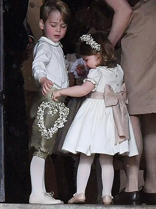George and Charlotte play.
