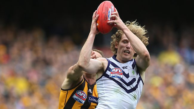 David Mundy was a standout for Fremantle. Picture: Mark Dadswell