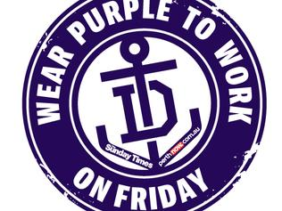 #PurpleFriday — Wear Purple to Work Day