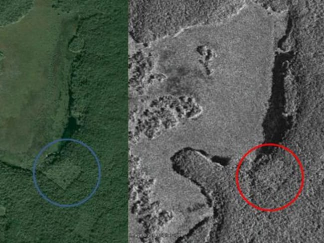 Satellite images appeared to support William's theory that an ancient city lurked deep inside the Yucatán forest. Picture: Canadian Space Agency