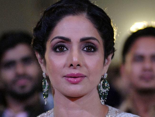 Bollywood actor Sridevi Kapoor attends the Umang Mumbai Police Show 2018 in January. Picture: AFP