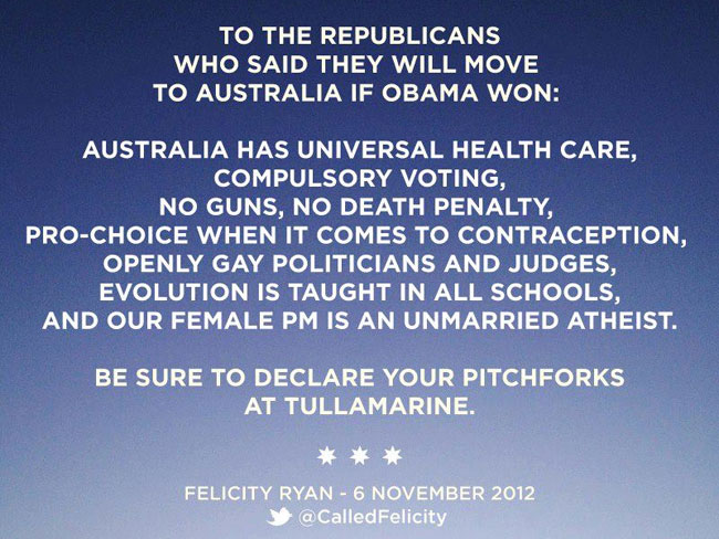 From Australia to Republicans