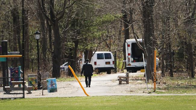 Central Islip, NY, where four mutilated bodies were found. Picture: Spencer Platt/Getty Images/AFP