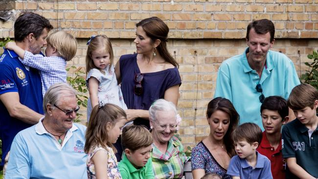 The Danish Royal Family. Gathered at Graasten Castle, southern part of Jutland, Denmark. Picture: Uffe Weng