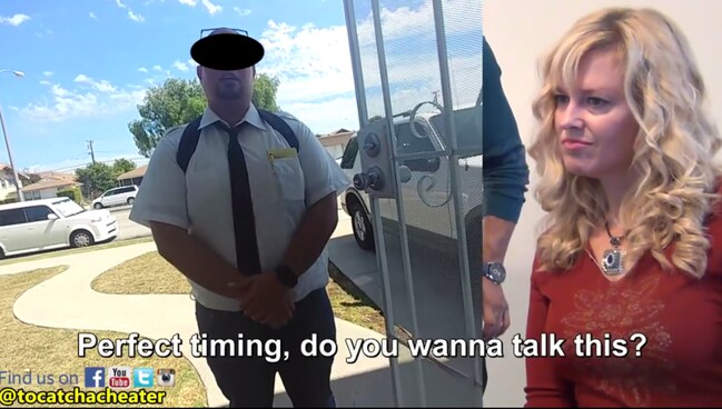 A wife set up her Jehovah's Witness husband to see if he would cheat on her. Picture: To Catch a Cheater/YouTube