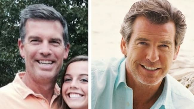 This lookalike has Brosnan's piercing eyes.