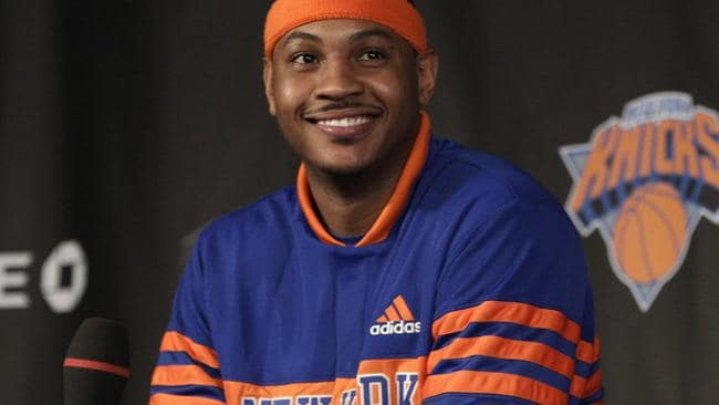 New York Knicks basketball player Carmelo Anthony.
