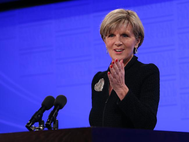 Not worried...Foreign Affairs Minister Julie Bishop said Russia is entitled to have their ships in our waters. Picture: Supplied.