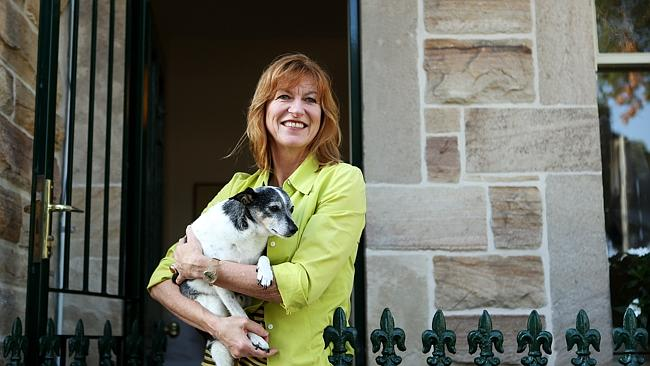 Leonie Hellmers and her dog Asterix sold their property at 49 Grove St, Birchgrove.
