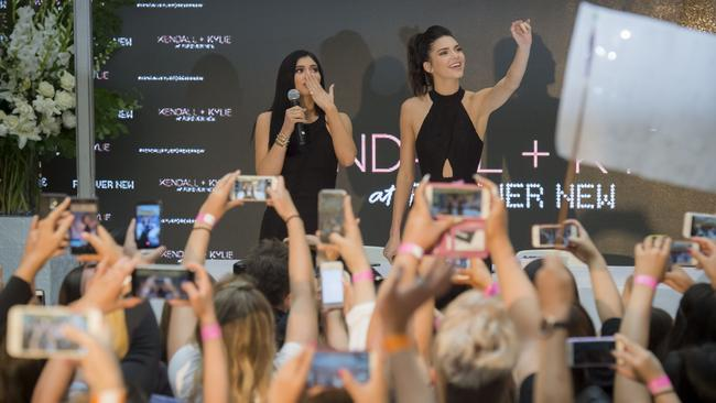 Kendall and Kylie Jenner did a few shopping centre appearances in Australia in 2015. Picture: Jason Edwards