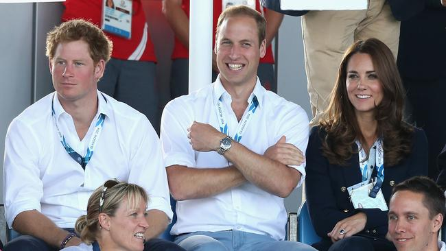Kicking back ... the royals also watched Scotland play Wales in the hockey at the Glasgow National Hockey Centre.