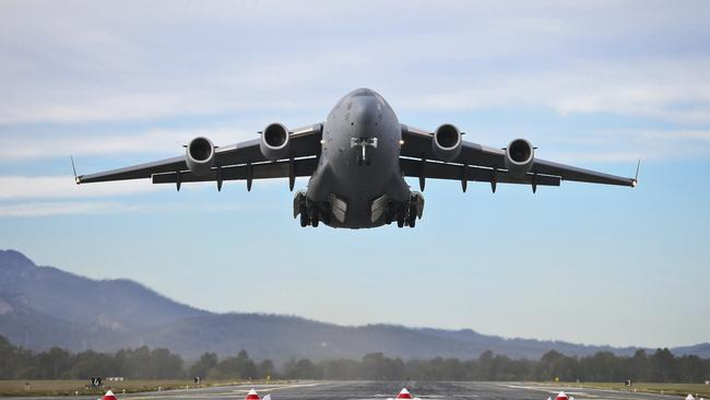 Big task ... safety and security are the key concerns of planners and flight crews undertaking the dangerous missions. Picture: News Corp Australia.