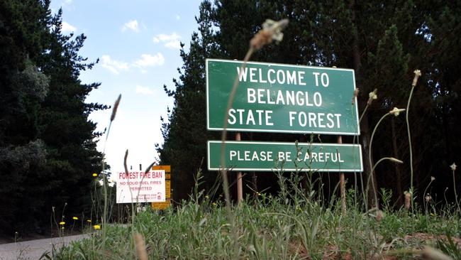 The entrance to Belanglo State Forest where Ivan Milats victims were found