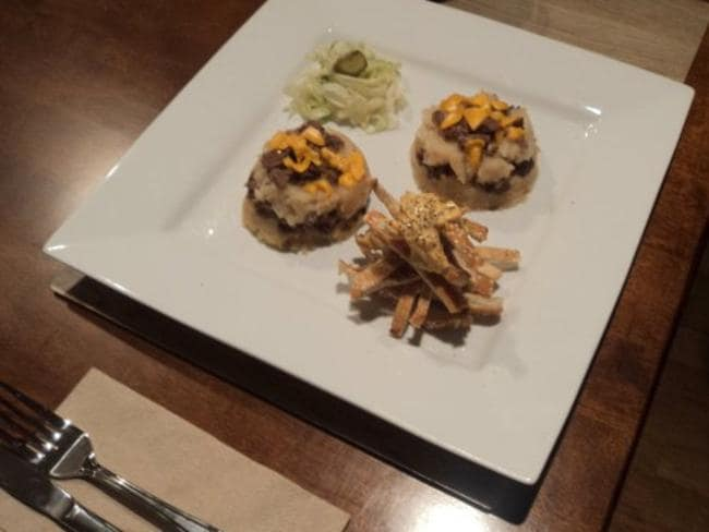Another take ... Big Mac mini shepherds pies with sesame seed crisps and a salad. Picture: Imgur