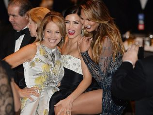 WASHINGTON, DC - APRIL 25: (L-R) American journalist and author Katie Couric, Jenna Dewan-Tatum and Chrissy Teigen attend the annual White House Correspondent's Association Gala at the Washington Hilton hotel April 25, 2015 in Washington, D.C. The dinner is an annual event attended by journalists, politicians and celebrities. (Photo by Olivier Douliery-Pool/Getty Images)