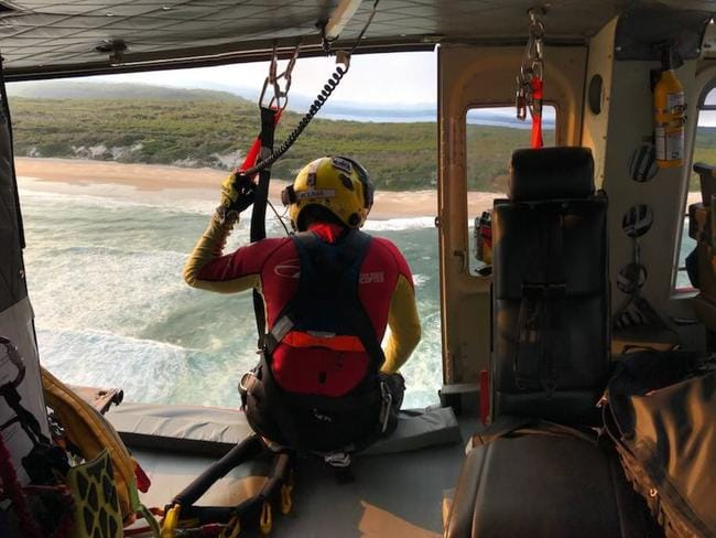 The Westpac Rescue team during the search. Picture: Twitter