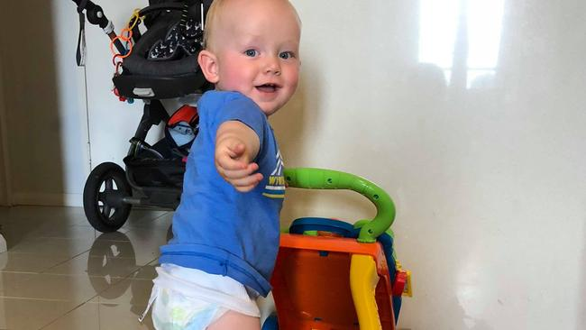 Will Grenfell, one, is growing up in an apartment. Picture: Supplied.