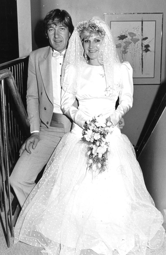 Fred on his wedding day to Karen in 1985. Picture: Supplied