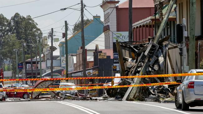 The shocking state of Singleton's main street after the rampage. Picture: Liam Driver