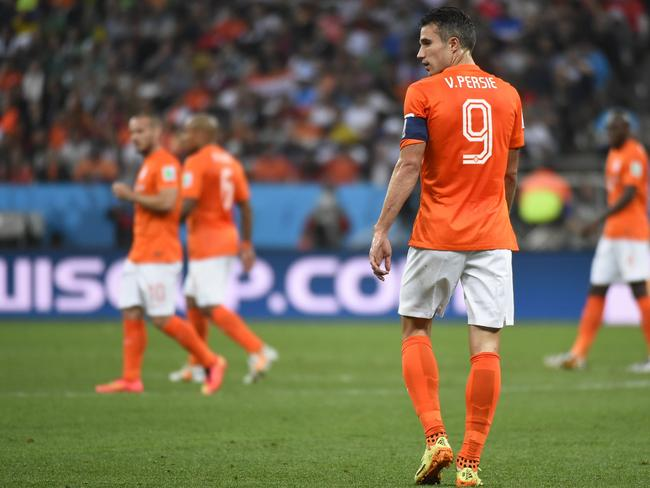 Dutch captain Robin van Persie hasn't touched the ball much.