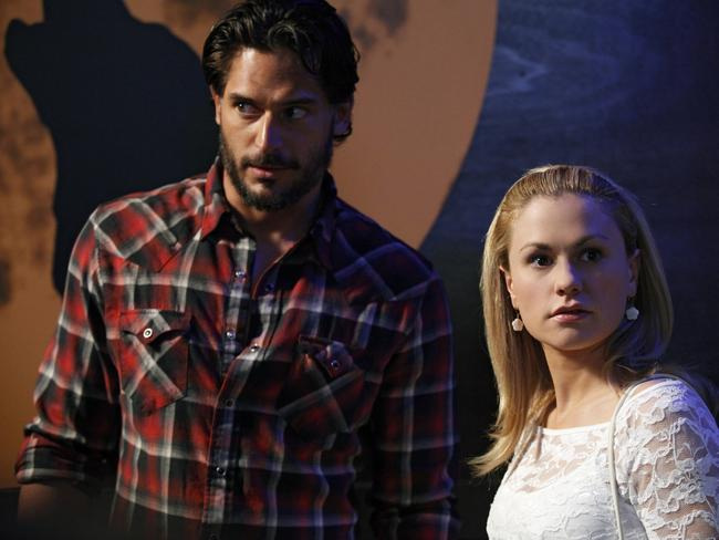 Yep ... Anna Paquin's Sookie has been with Joe Manganiello's character Alcide Herveaux.