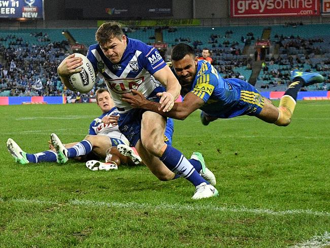 Brett Morris wants to prolong his NRL career with the Bulldogs. Picture: AAP