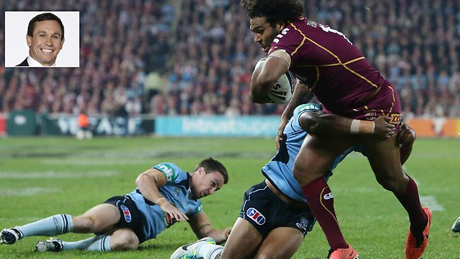 Sam Thaiday set the tone early on for the Maroons in Origin II.