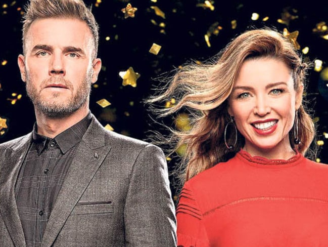 Gary Barlow re-bonded with Dannii Minogue during TV hit Let It Shine. Picture: Supplied