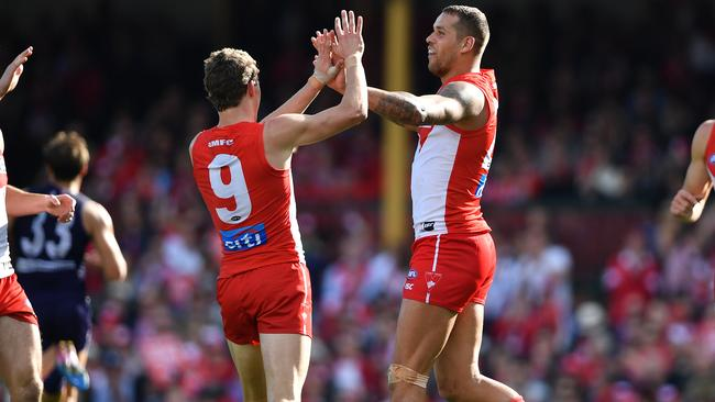 Lance Franklin booted four goals on Saturday. Picture: AAP Images