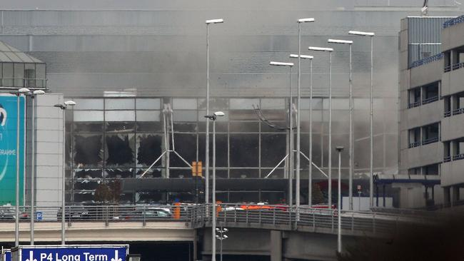 Experts say it will be important to learn whether the suicide devices used at Zaventem Airport were similar to those used in the Paris attacks. Picture: AP Photo/Michel Spingler