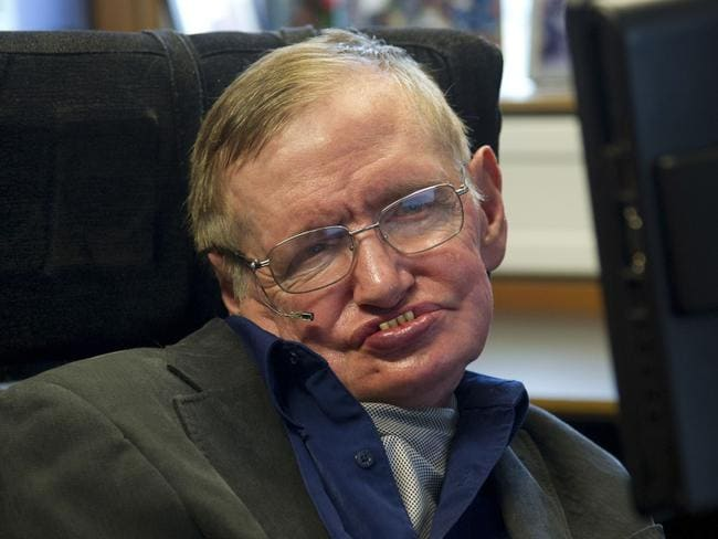 He refused to give up: Physicist Stephen Hawking. Picture: Guillermo Granja