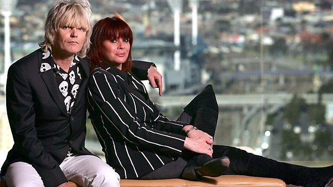 Chrissy Amphlett and Mark McEntee from The Divinyls. Picture: Fiona Hamilton