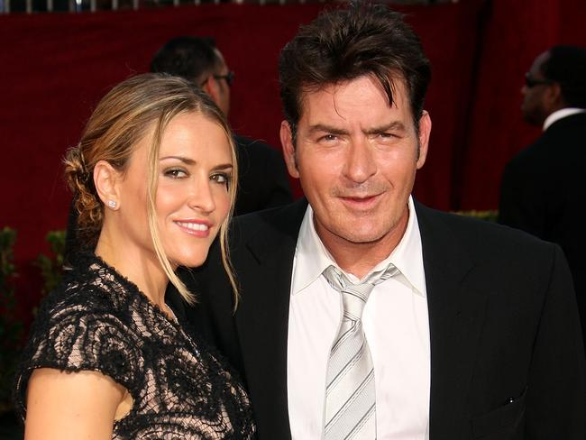 Stormy marriage ... Charlie Sheen had a volatile relationship with Brooke Mueller, the mother of his twin boys.