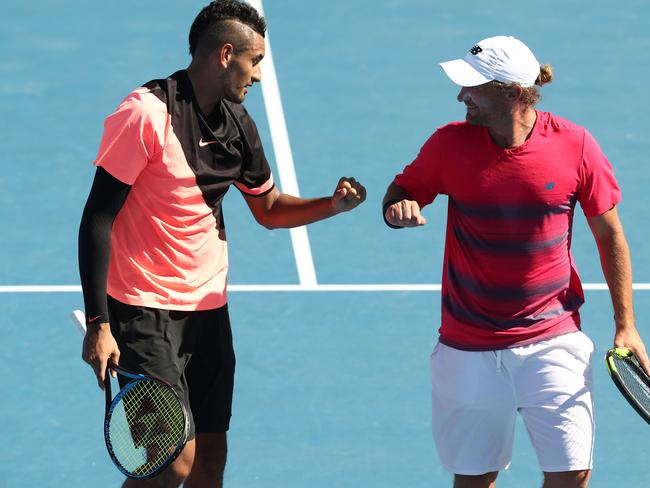 Nick Kyrgios of Australia and Matt Reid got it done.