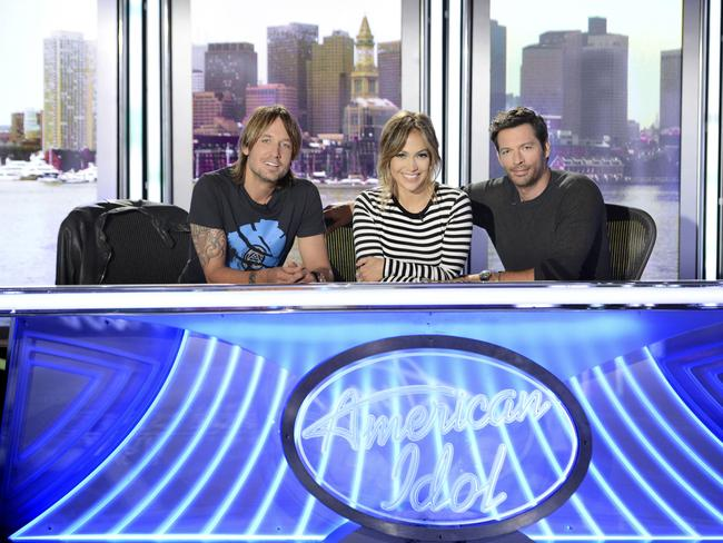 Reunited ... Keith Urban has a bond with fellow 'American Idol' judges Jennifer Lopez and Harry Connick Jr.