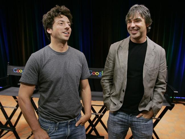 Google co-founders Sergey Brin and Larry Page.