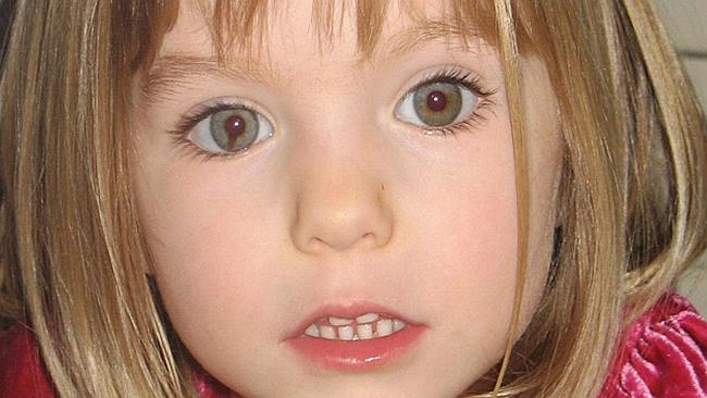 Missing... Maddie McCann. Picture: Supplied
