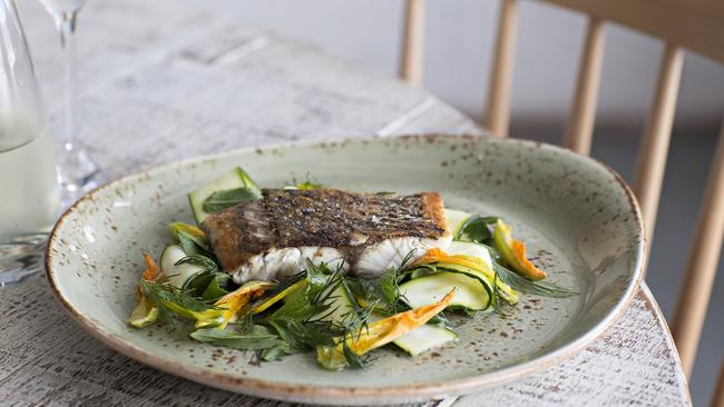 Matt Moran's pan-fried barramundi from The Great Australian Cookbook.